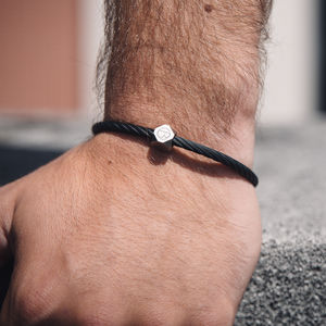 Stainless Steel Matte Black Cable Bracelet - bracelets
