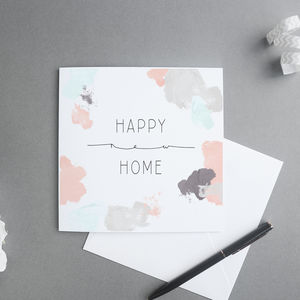 Happy New Home Card - new home cards