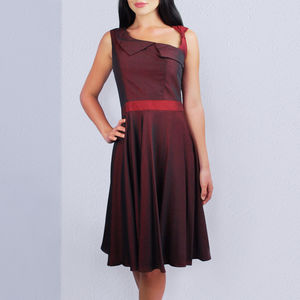 Lydia 50s Style Dress Red - women's fashion