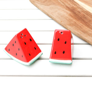 Watermelon Salt And Pepper Shakers - salt & pepper pots