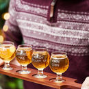 Personalised Craft Beer Flight Tasting Set
