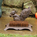 Cast Iron Garden Squirrel Boot Brush