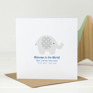 Little Elephant New Baby Card
