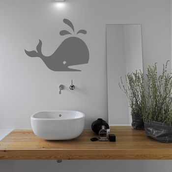 Whale Bathroom Vinyl Wall Sticker