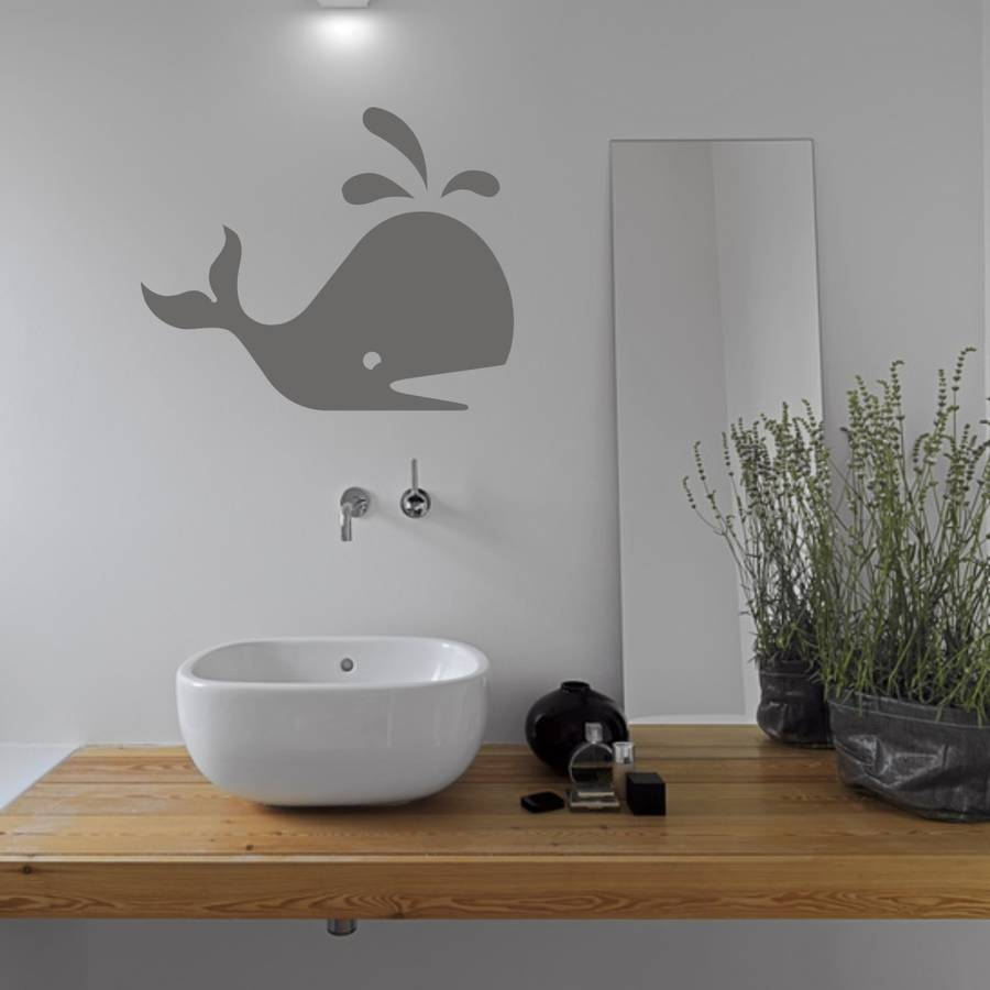 whale bathroom vinyl wall sticker by mirrorin. Black Bedroom Furniture Sets. Home Design Ideas