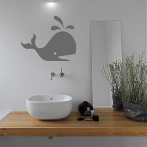 Whale Bathroom Vinyl Wall Sticker - wall stickers
