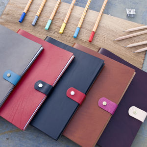 Personalised Refillable Leather Notebook - travel journals & diaries