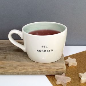 99% Mermaid Handmade Earthenware Cup - kitchen