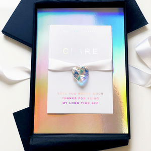 Charged Rainbow Swarovski Crystal Birthday Card