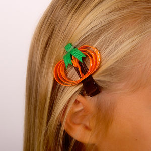 Pumpkin Halloween Hair Clip - jewellery & accessories