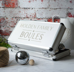 Personalised Boules And Petanque Set - 80th birthday gifts
