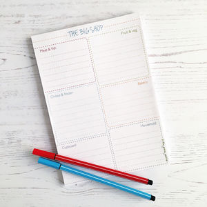 Shopping List Note Pad