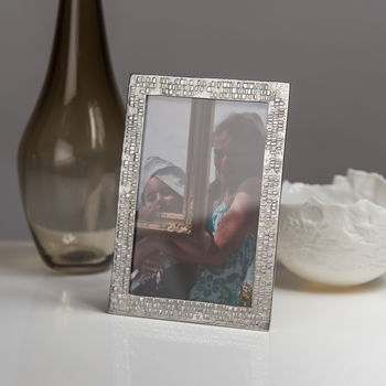 Dna Cast Pewter Photo Frame