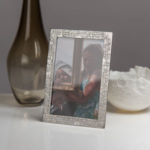 Dna Cast Pewter Photo Frame - picture frames