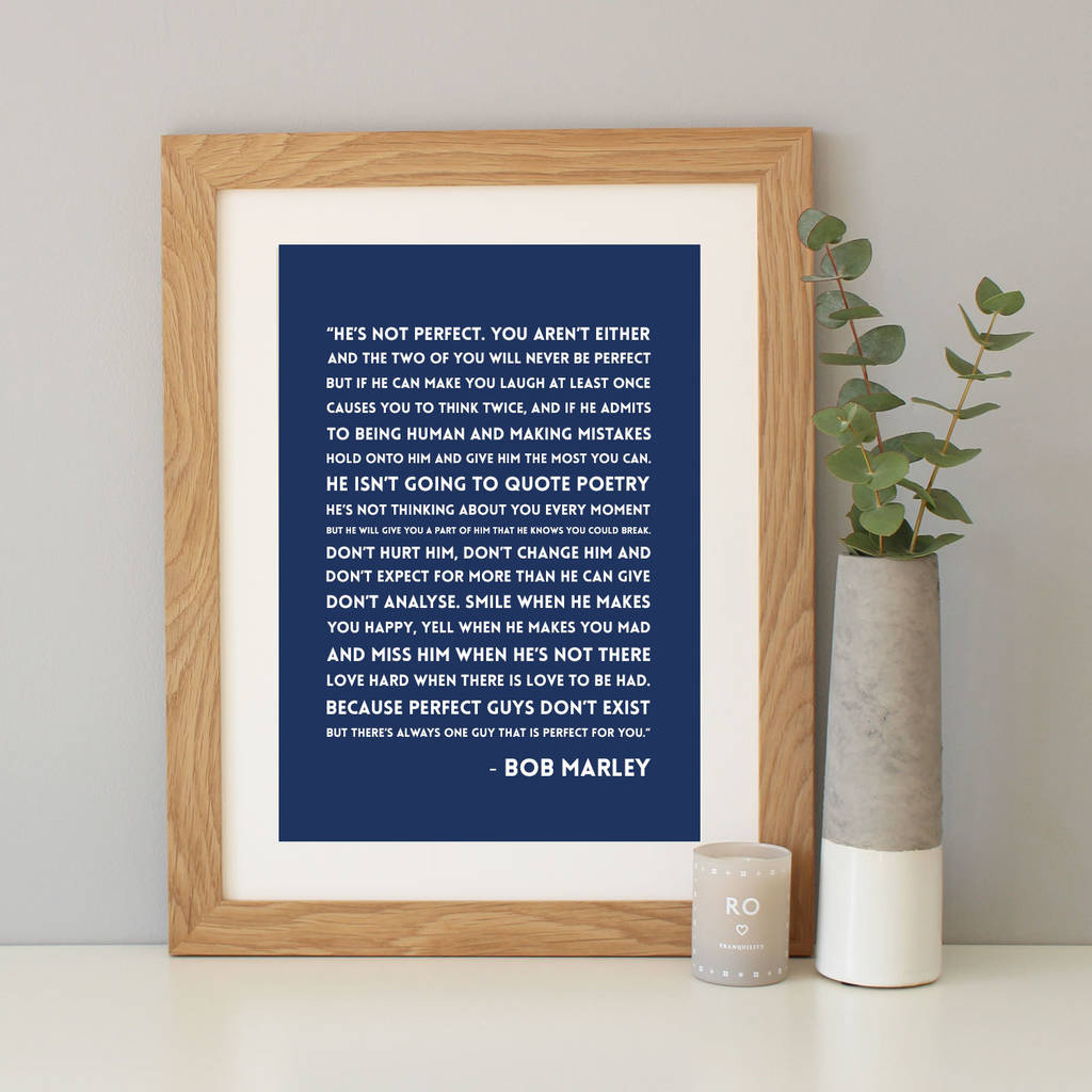 Navy Background With A4 Oak Frame