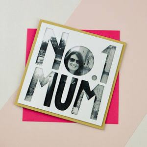 Personalised Photo Mothers Day Card 'Number One Mum'
