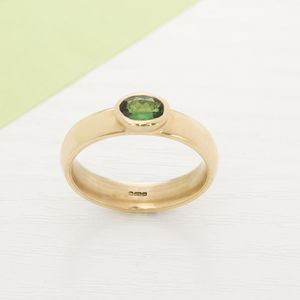 9ct Gold And Tsavorite Ring - rings