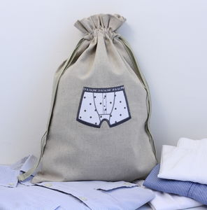 Men's Travel Laundry Bag - bedroom