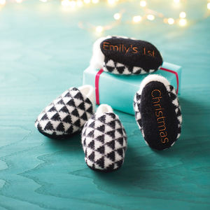 Personalised Christmas Slippers - the monochrome edit