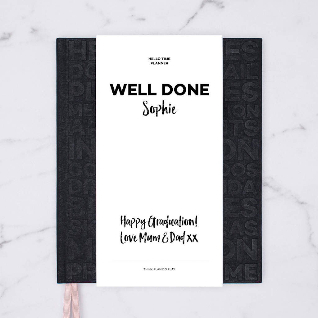Planner, Notebook And Journal Graduation Gift