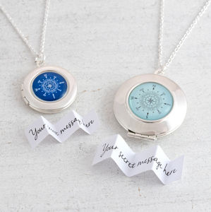 Compass Locket Necklace - lockets