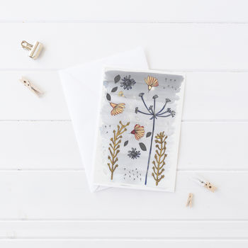 Natural Flowers Greeting Card