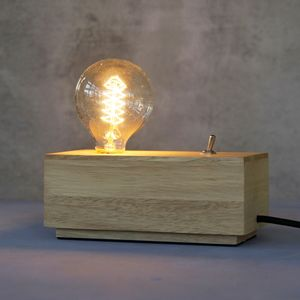 Personalised 'Brighten Up My Day' Wooden Table Lamp - lighting