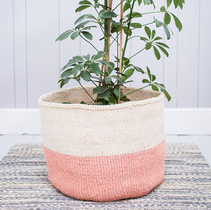 Dusky Pink Colour Block Basket - storage baskets