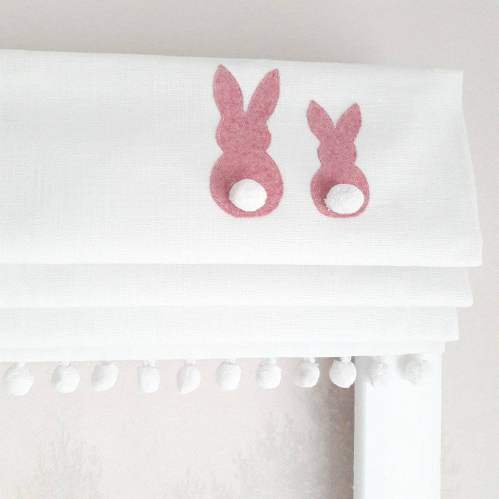 Pink Bunnies Blackout Roman Blind By The Nursery Blind