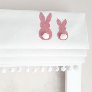 Pink Bunnies Blackout Roman Blind - bathroom