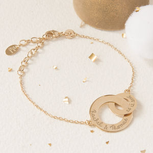 Personalised Intertwined Chain Bracelet - gifts for mothers