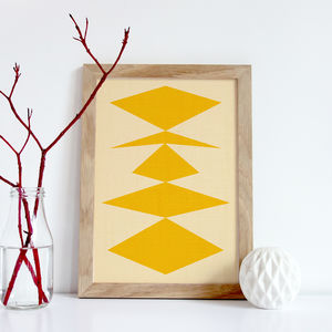 Geometric Print, Yellow Triangles