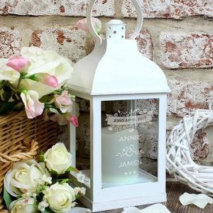 Personalised Wedding Light Up Lantern - room decorations