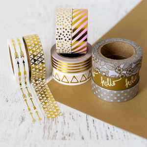 Silver And Gold Washi Tape - sewing & knitting