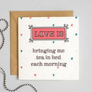 'Love Is' Fun Card