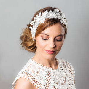 Amelie Lace Hairpiece - head pieces