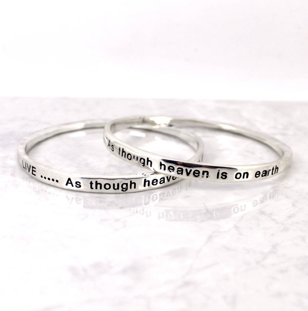rose gold positive sayings bracelets cuff c bangles bracelet message engraved stamped adjustable bangle open hand inspirational steel white stainless product