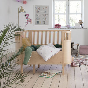 Wooden Edition Baby And Junior Cot Bed - nature's nursery