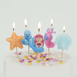 Mermaid Candles Birthday Cake Under The Sea