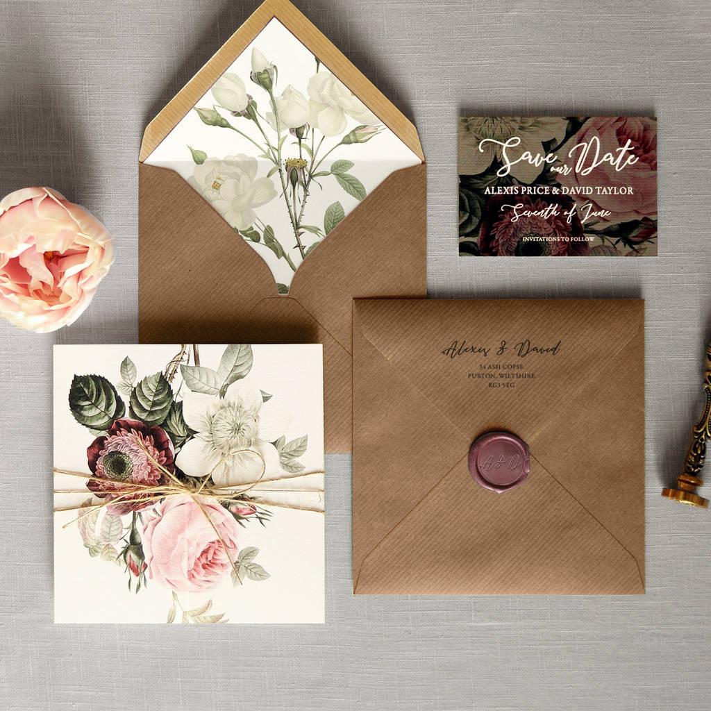 English Garden Folding Wedding Invitation By Feel Good