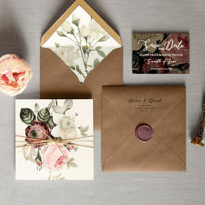 English Garden Folding Wedding Invitation - invitations