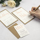 Calligraphy Script DIY Wedding Invitation Set