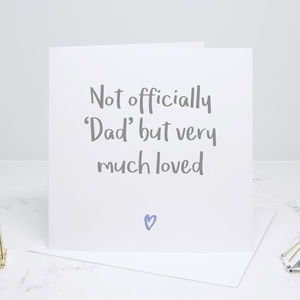Not Officially Dad Father's Day Card