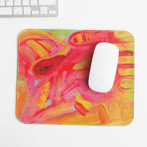 'Solstice Dreams' Printed Leather Mouse Mat