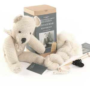 Limited Edition 'Ernest' The Vintage Bear Knitting Kit - sewing & knitting