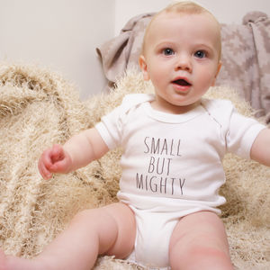 Set Of Three Small But Mighty Babygrows - underwear