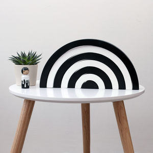 Monochrome Rainbow Wooden Stacking Toy