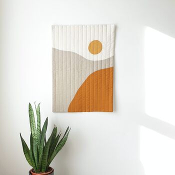Sunrise Abstract Quilted Wall Hanging