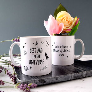 Personalised Best Dad In The Universe Mug