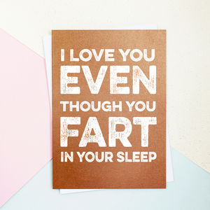 Fart In Your Sleep Valentine's Day Card